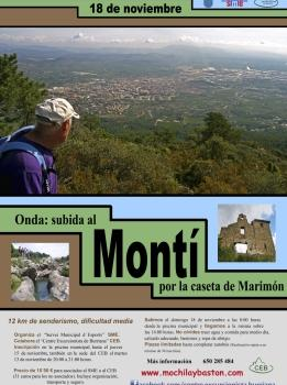 Senderismo-Subida al Montí