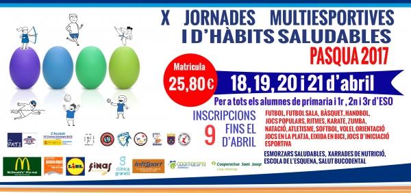 Jornades Multiesportives I D Habits Saludables Pasqua 2017